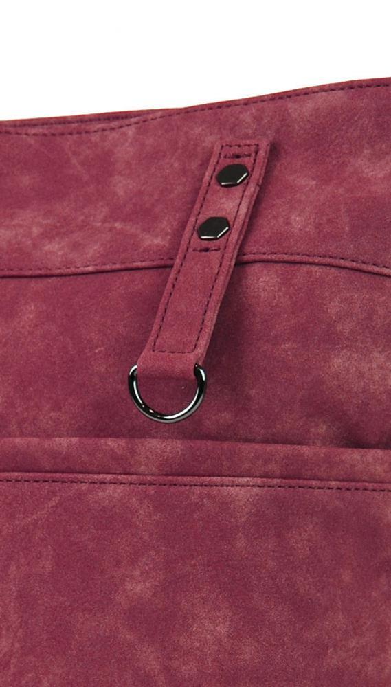 Dámská broušená crossbody kabelka 16007 malinově červená