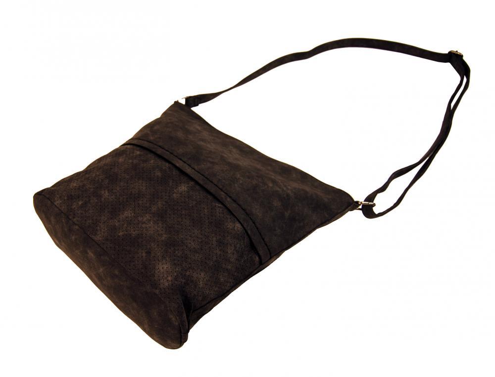 Dámská broušená crossbody kabelka 16010 kávová hnědá
