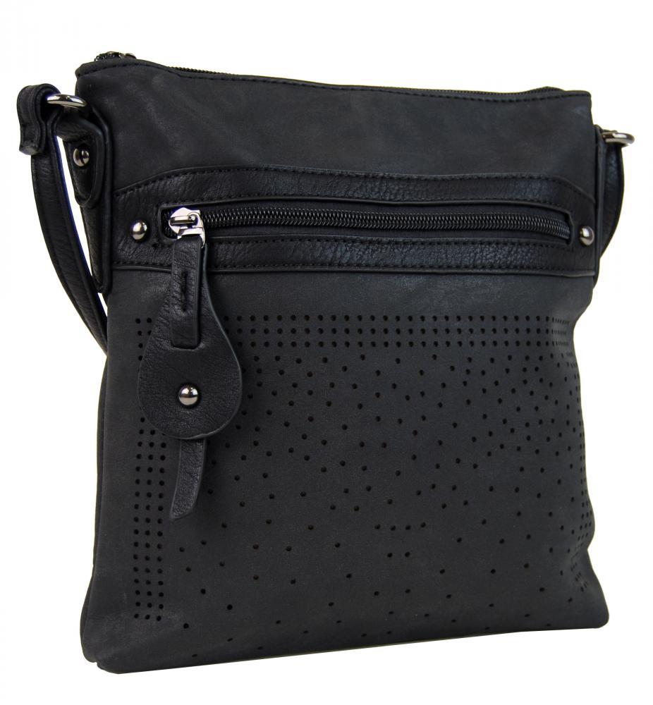 Elegantní malá dámská crossbody kabelka 16081 černá