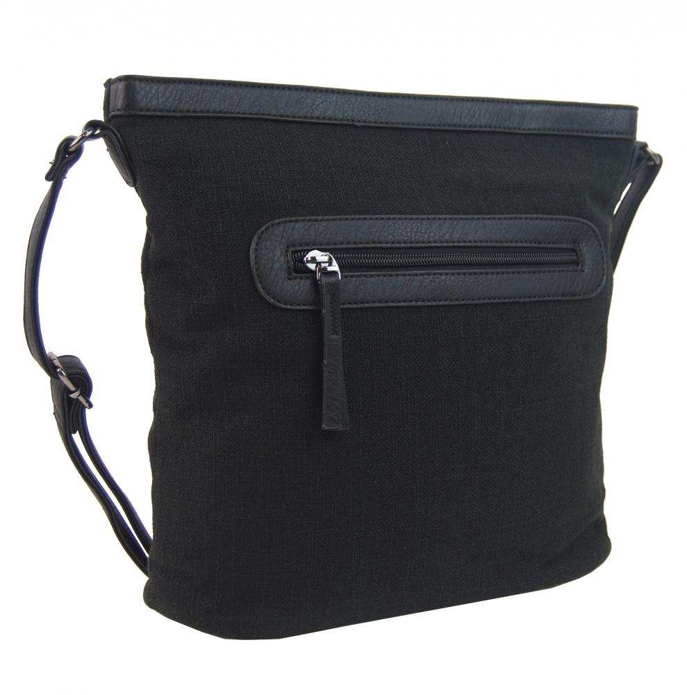 Čierna dámska crossbody kabelka H16178