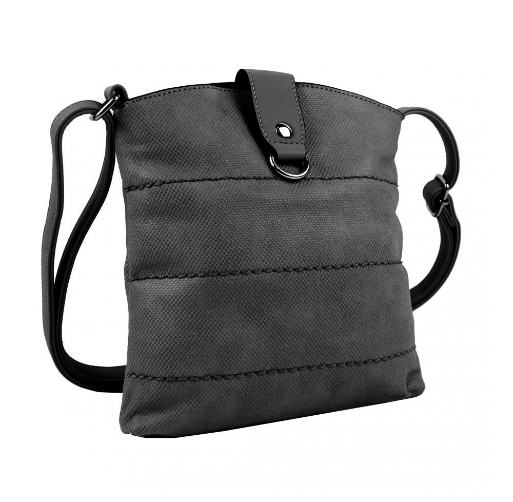 Malá dámská crossbody kabelka H17377 tmavě šedá