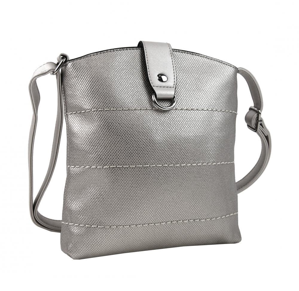 Tapple Stříbrná malá dámská crossbody kabelka
