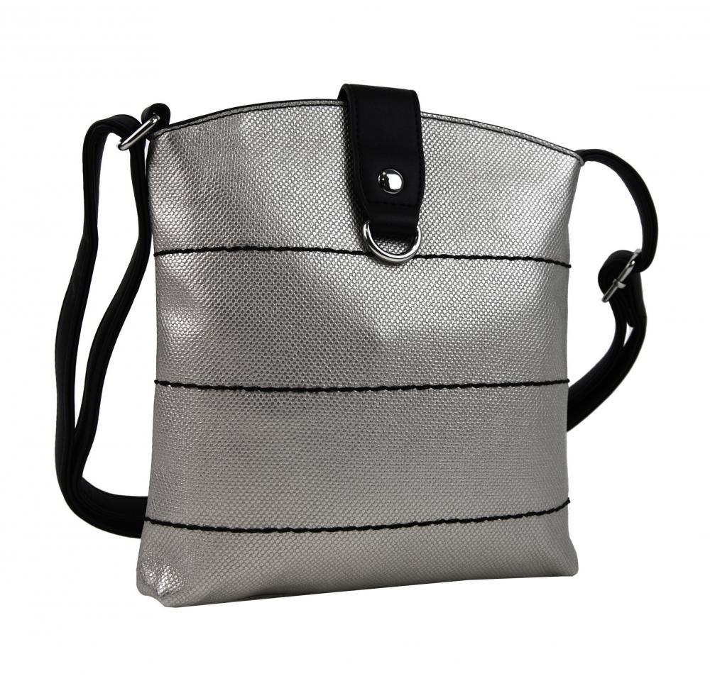 Tapple Stříbrno-černá malá dámská crossbody kabelka