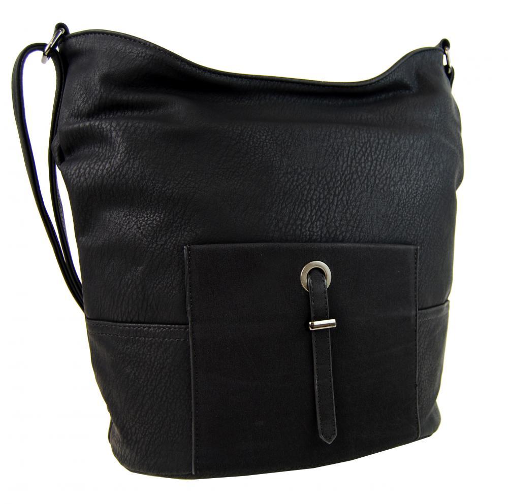 Elegantná väčšia dámska crossbody kabelka HB003 čierna