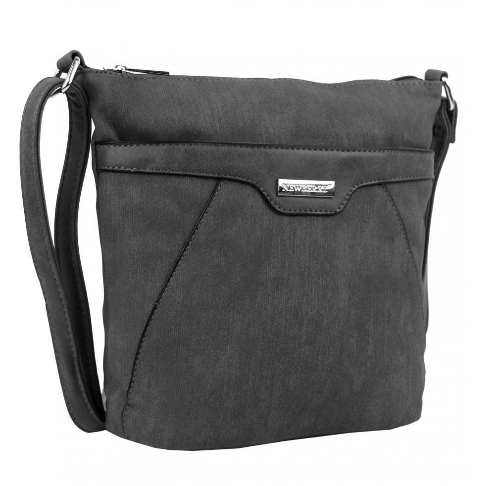 Malá crossbody kabelka s čelnou zipsovou priehradkou HB022 sivá