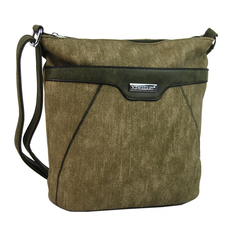 Malá crossbody kabelka s čelnou zipsovou priehradkou HB022 khaki