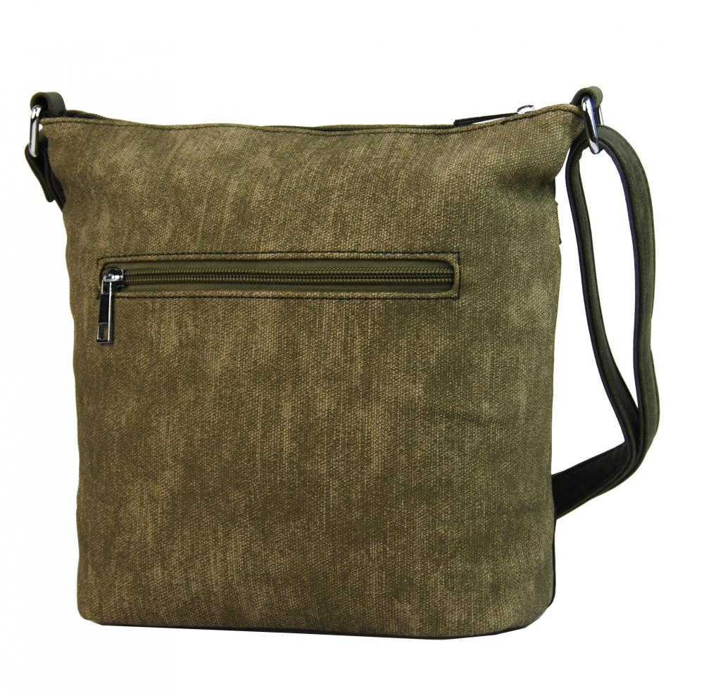 Crossbody kabelka s čelní zipovou přihrádkou HB022 khaki