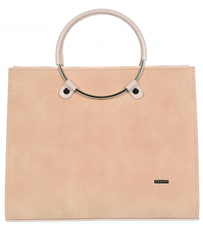 GROSSO lososově růžová moderní dámská kabelka