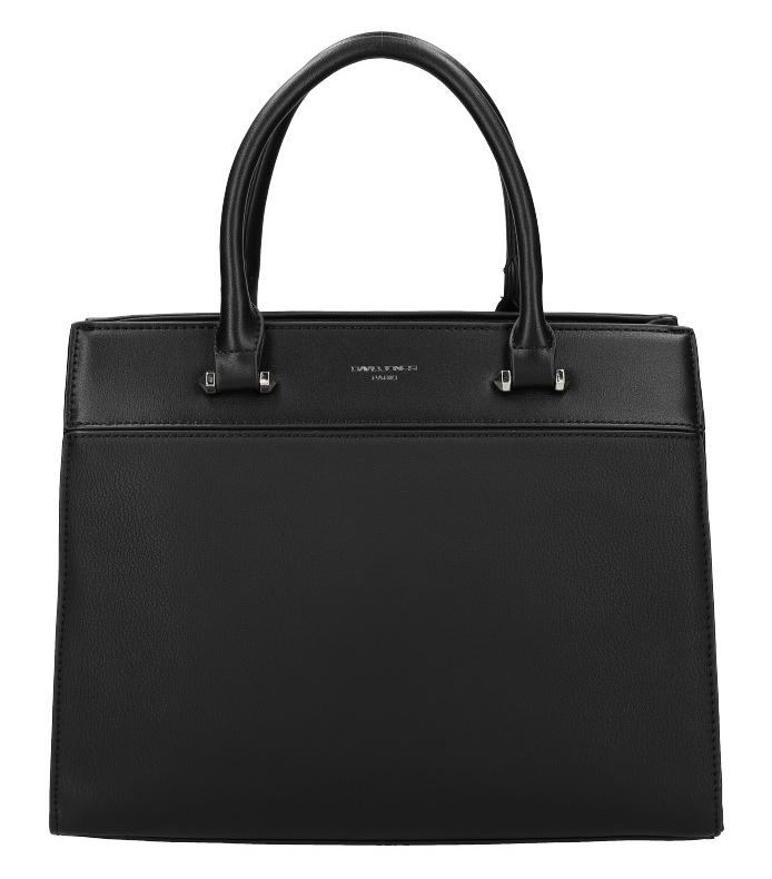 DAVID JONES černá dámská kabelka se třemi sekcemi 6217-2