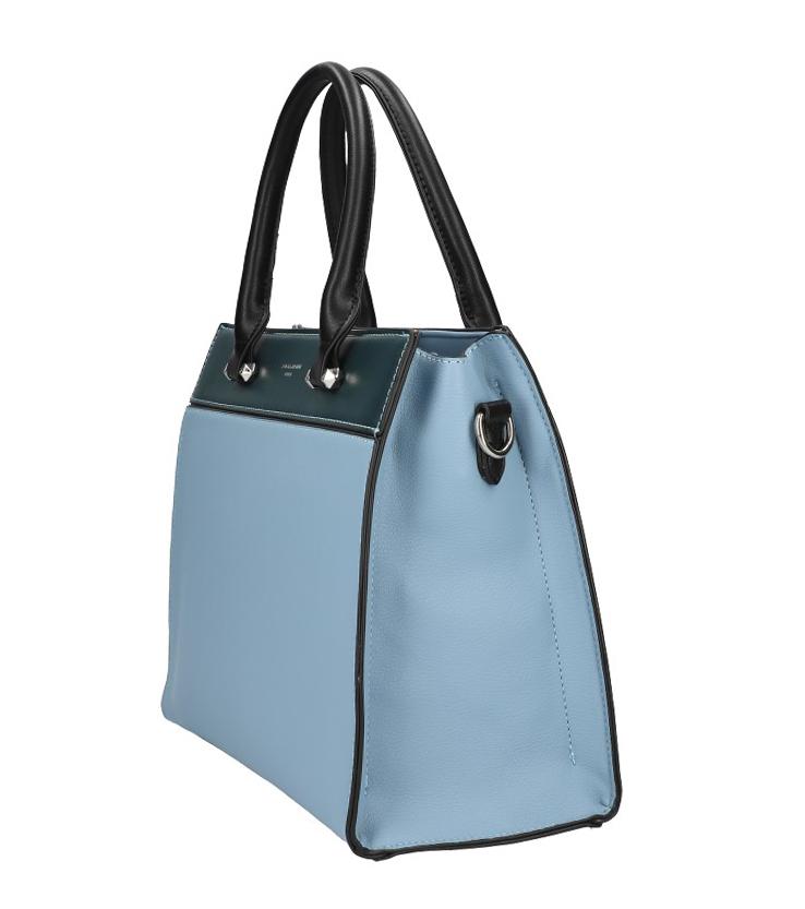 DAVID JONES modrá dámska kabelka s tromi sekciami 6217-2