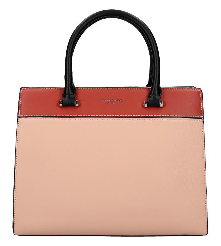 DAVID JONES růžová dámská kabelka se třemi sekcemi 6217-2