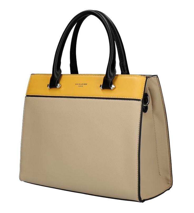 DAVID JONES béžová dámska kabelka s tromi sekciami 6217-2
