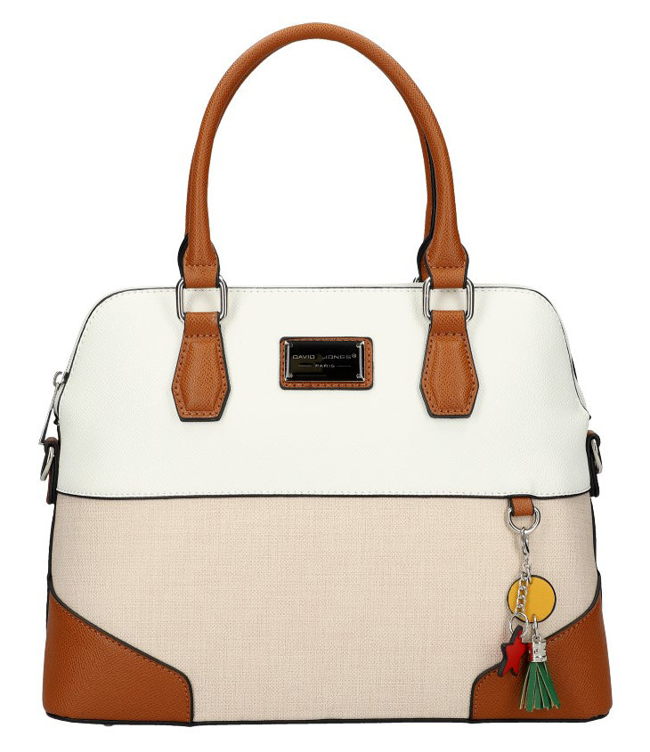 DAVID JONES bílá oblá barevná dámská kabelka do ruky 6242-3