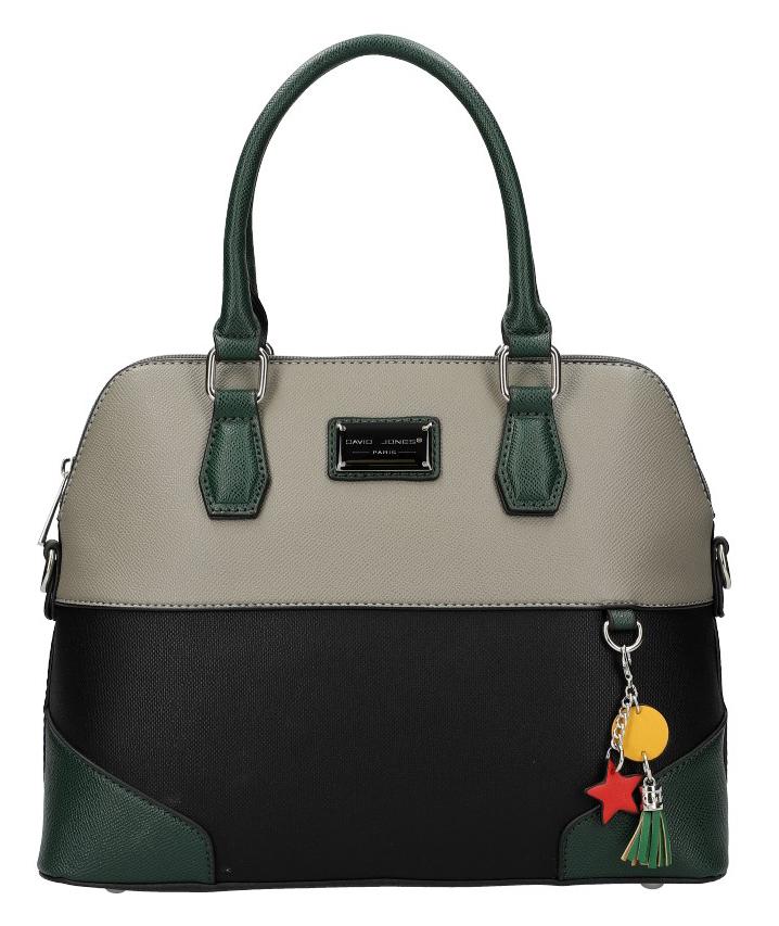 DAVID JONES černá oblá barevná dámská kabelka do ruky 6242-3