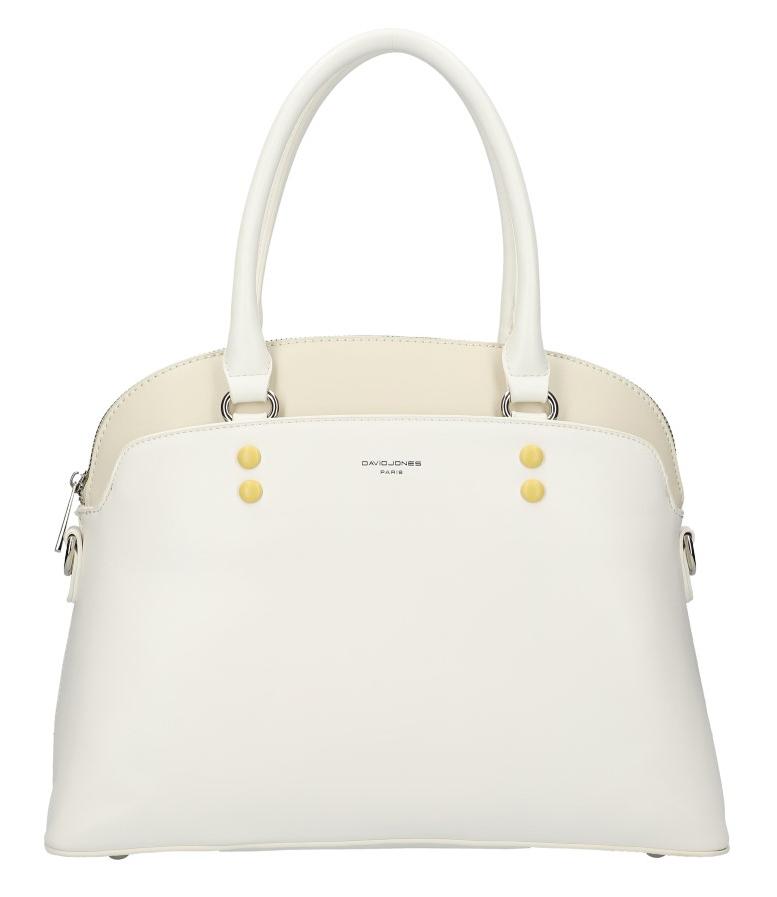 DAVID JONES bílá oblá dámská kabelka do ruky CM5640