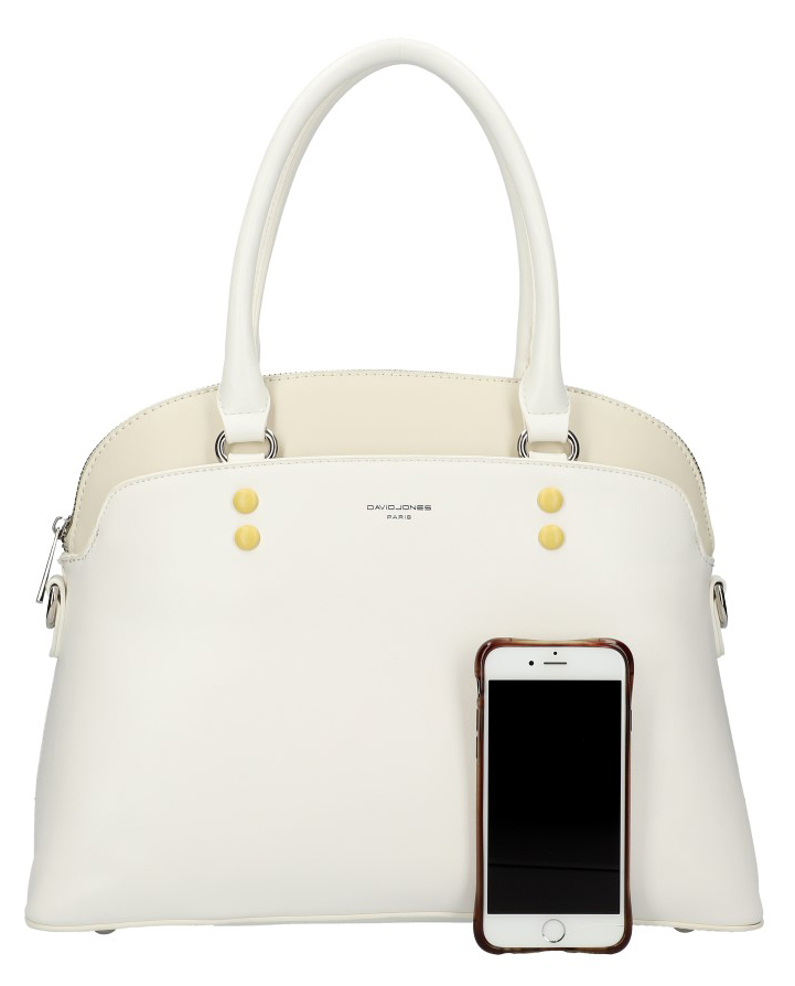 DAVID JONES biela oblá dámska kabelka do ruky CM5640