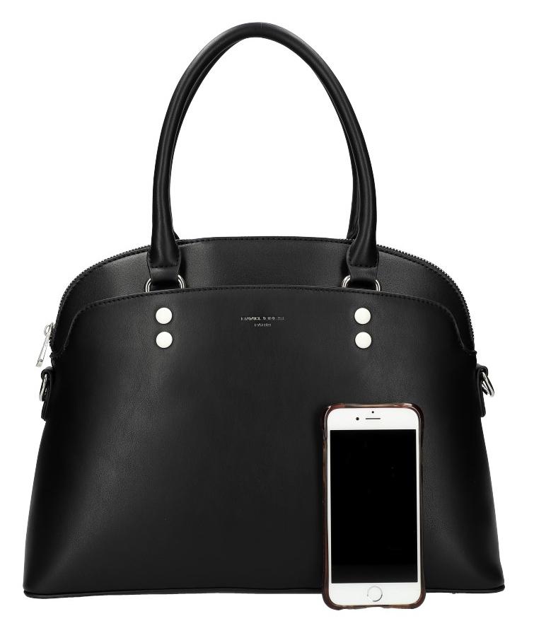 DAVID JONES čierna oblá dámska kabelka do ruky CM5640