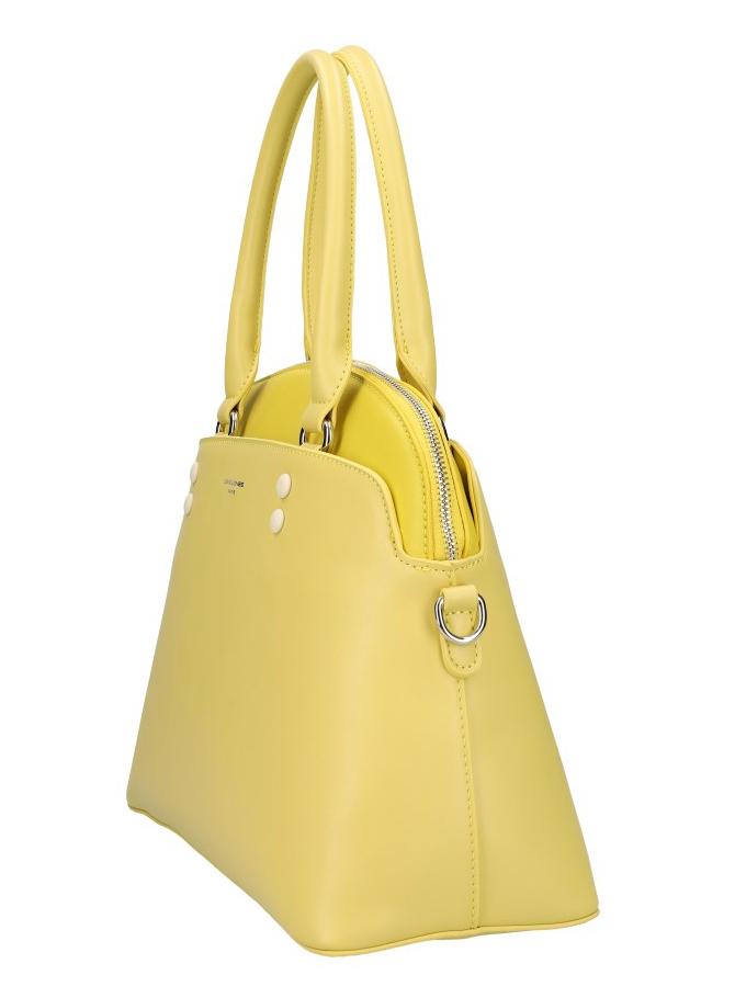 DAVID JONES žltá oblá dámska kabelka do ruky CM5640