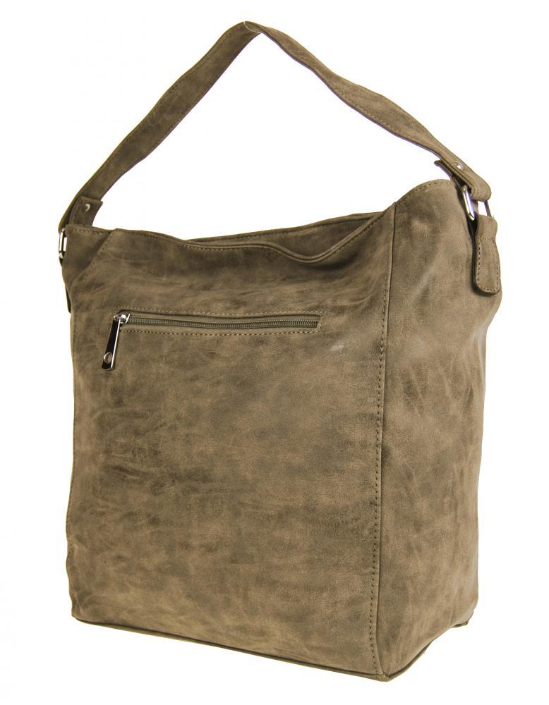 Broušená kabelka na rameno M9001 světlá přírodní hnědá
