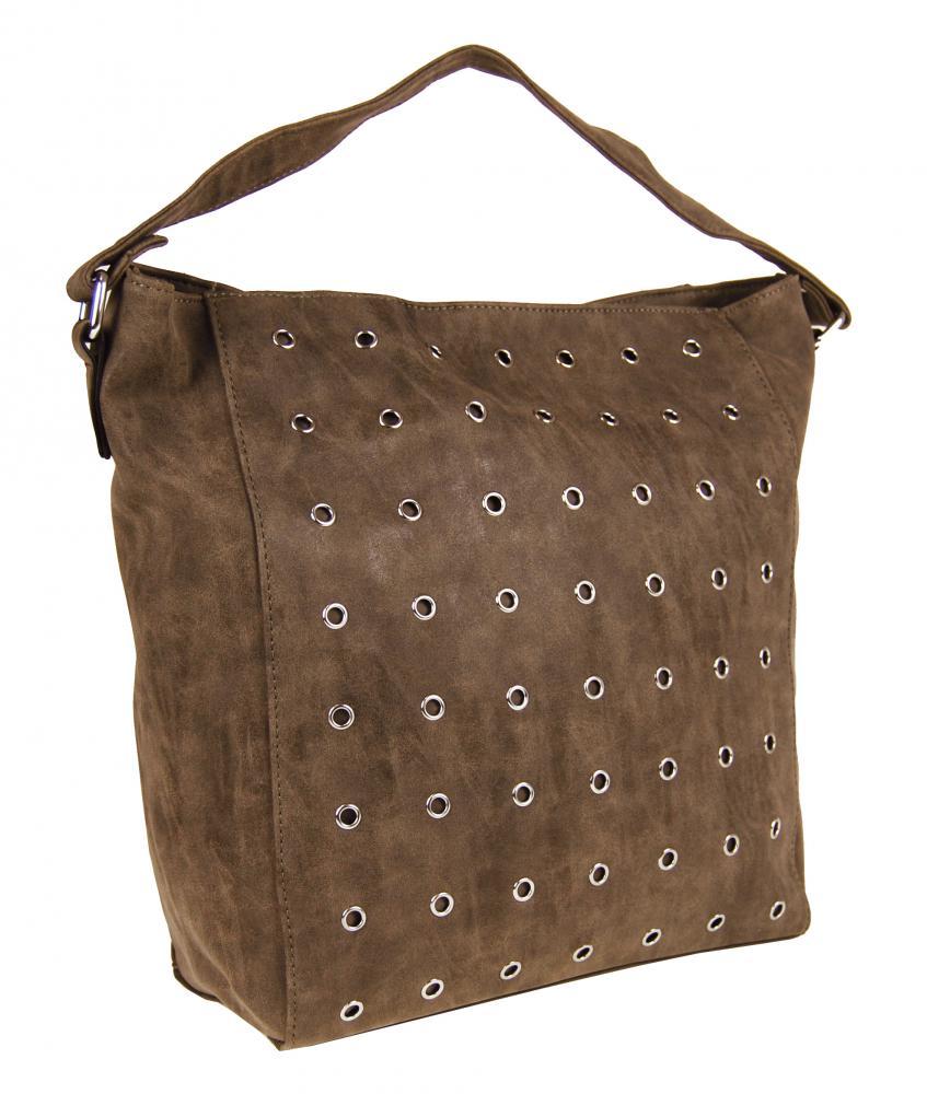 Hnedá brúsená kabelka na rameno M9001