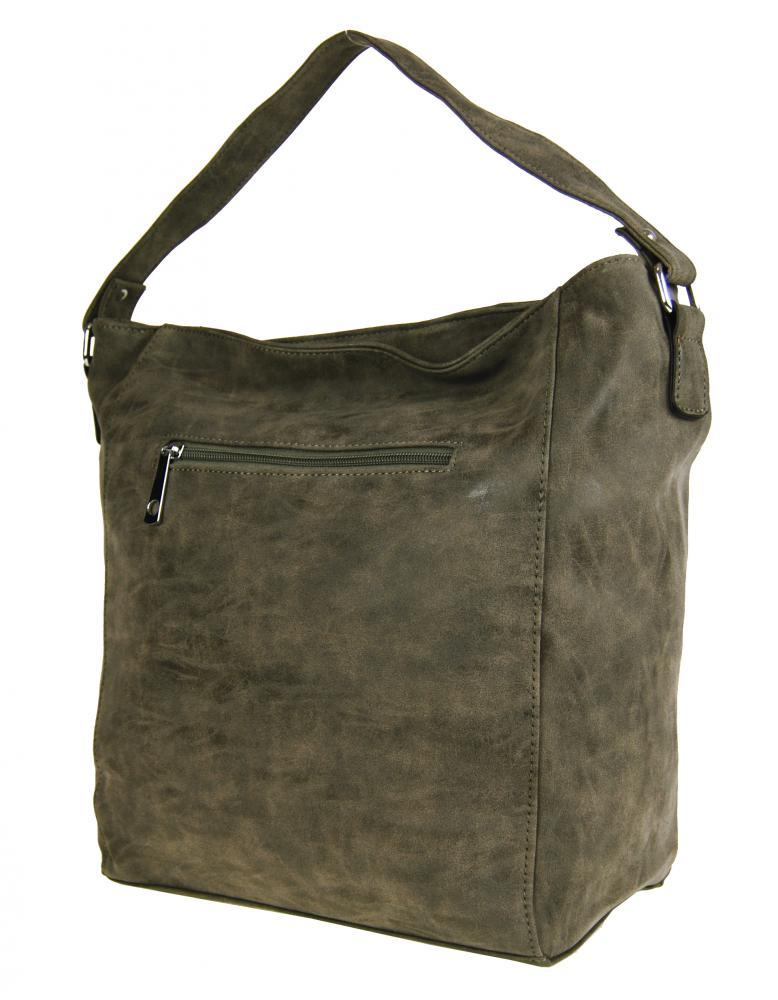 Brúsená kabelka na plece M9001 prírodná hnedá