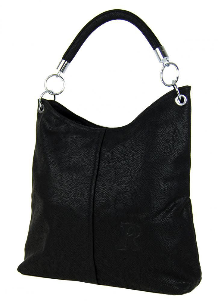Moderní kabelka přes rameno 54-MH černá