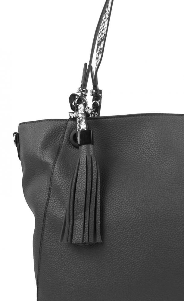 Stredne sivá moderná kabelka cez plece 4919-BB