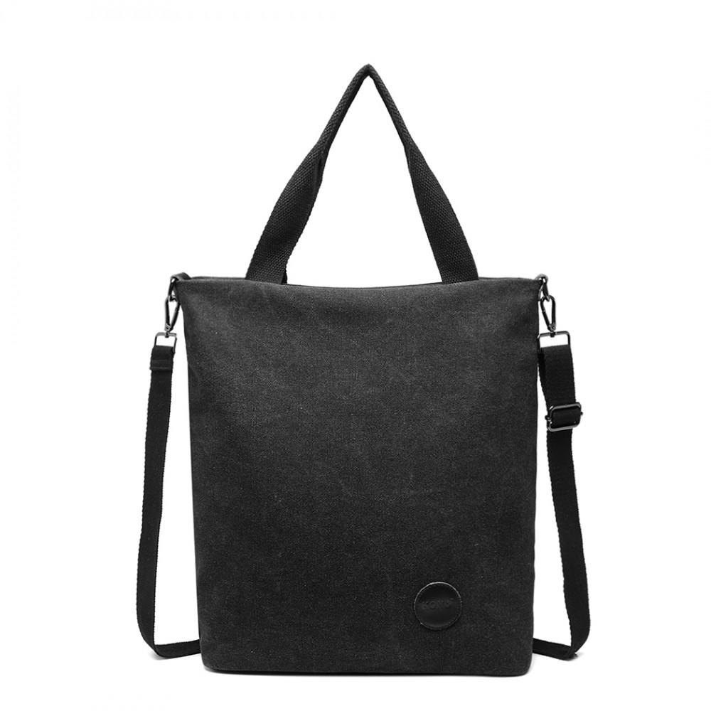 KONO Unisex crossbody messenger taška E1965 černá