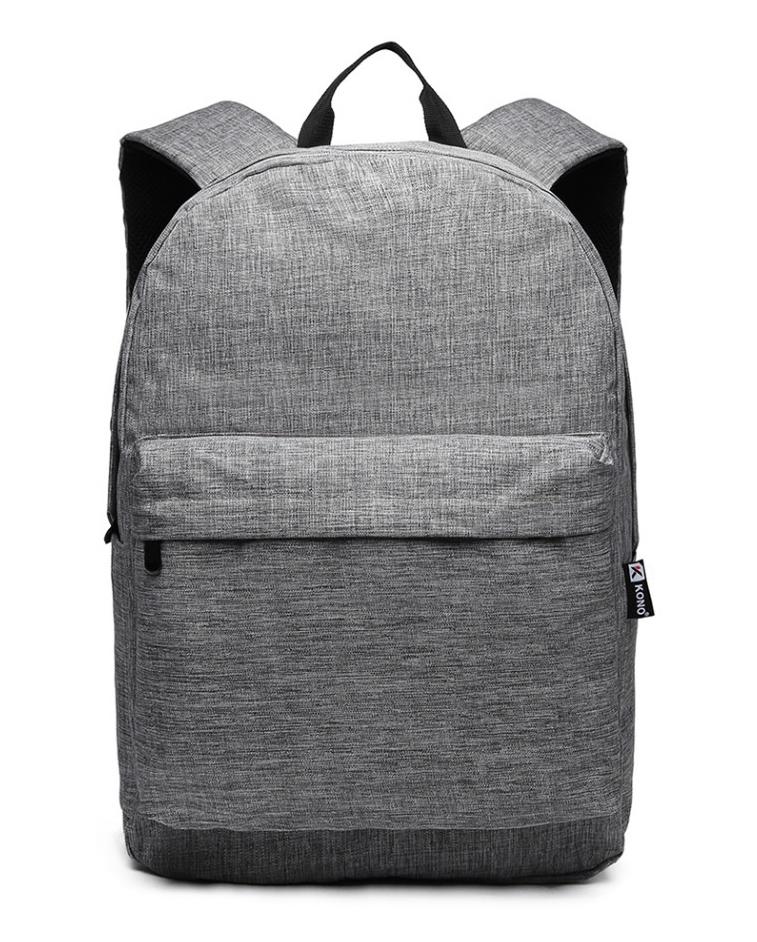 KONO Velký školní batoh šedý Unisex