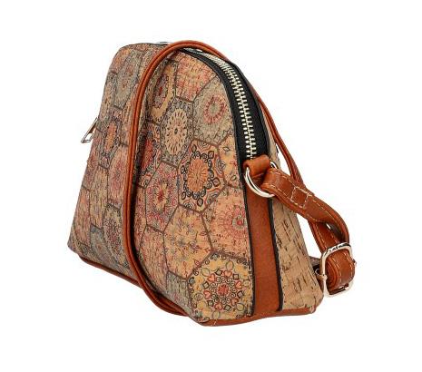 Crossbody dámská kabelka v korkovém designu SE250 typ4