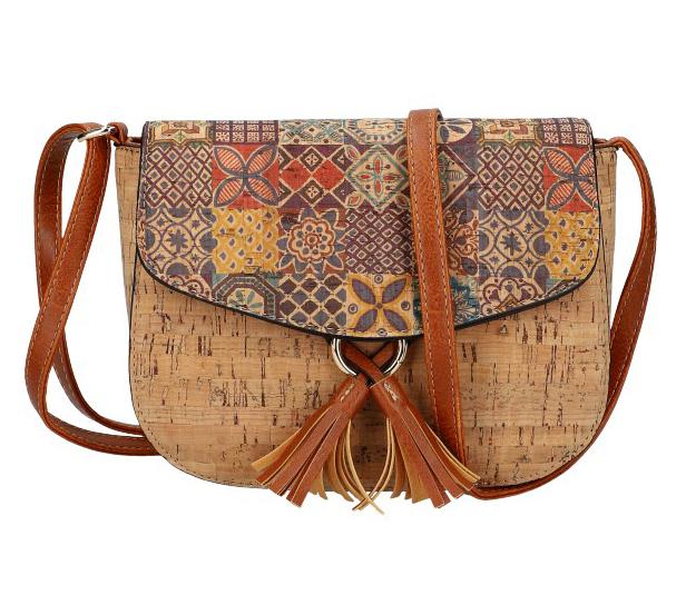 Crossbody dámská kabelka v korkovém designu SE261-1