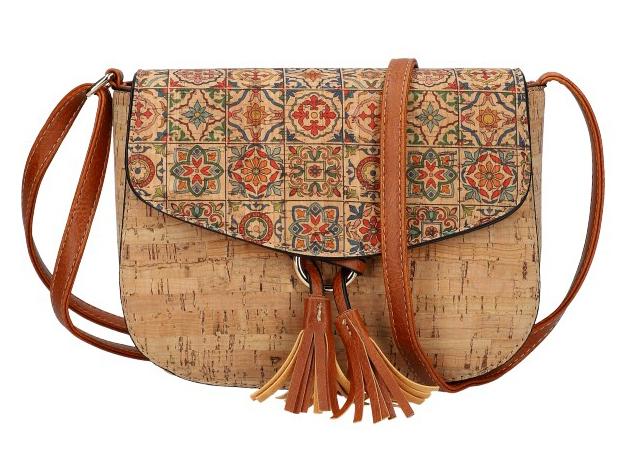 Crossbody dámská kabelka v korkovém designu SE261-2