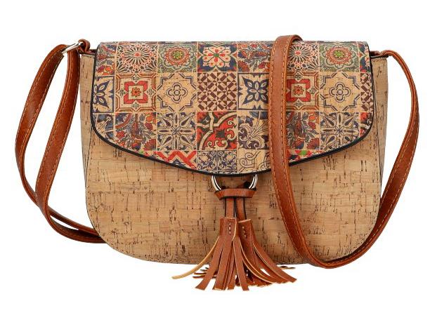 Crossbody dámská kabelka v korkovém designu SE261-3