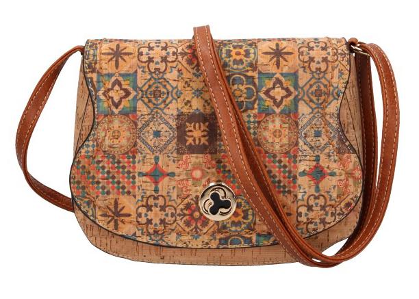 Crossbody dámska kabelka v korkovom dizajne SE265-4