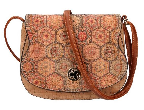 Crossbody dámska kabelka v korkovom dizajne SE265-6