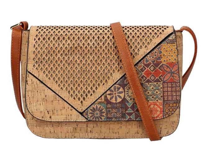 Crossbody dámská kabelka v korkovém designu SE304-1