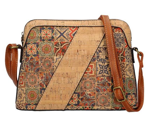 Crossbody dámská kabelka v korkovém designu SE308-3