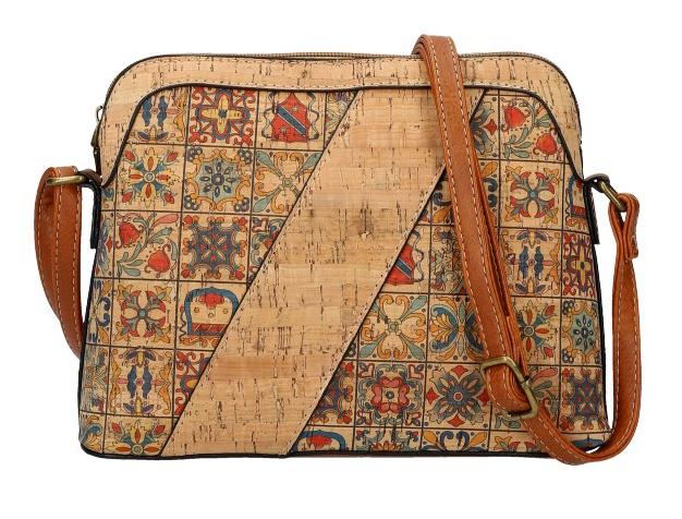 Crossbody dámská kabelka v korkovém designu SE308-6