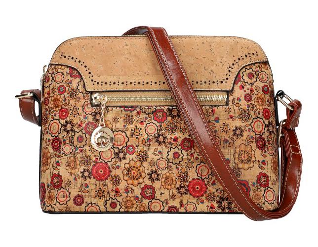 Crossbody dámska kabelka v korkovom dizajne SM016-4