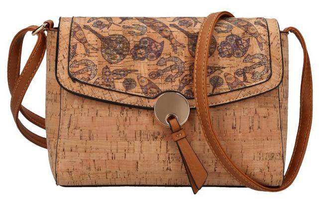 Crossbody dámská kabelka v korkovém designu 1990-M1