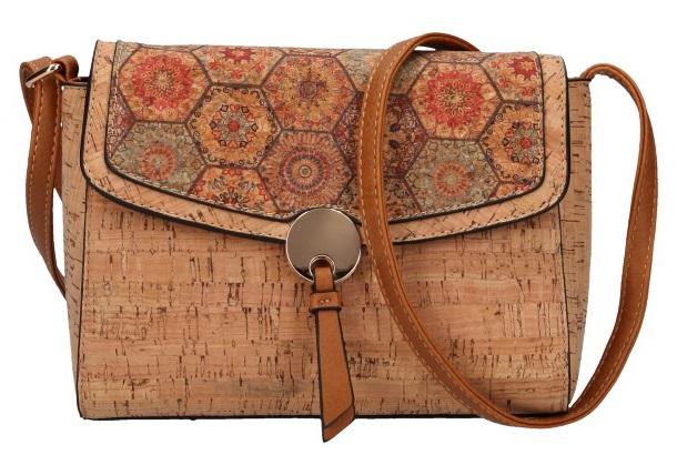 Crossbody dámská kabelka v korkovém designu 1990-M2