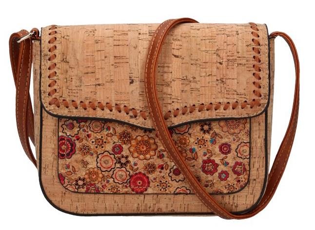 Crossbody dámská kabelka v korkovém designu 20252-M4