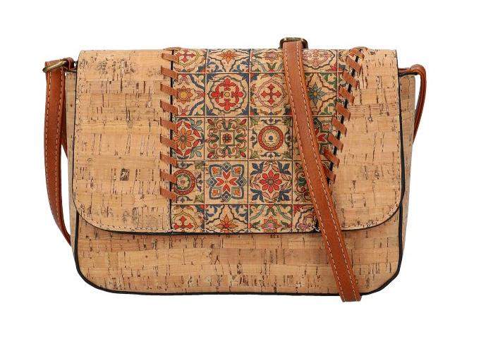 Crossbody dámska kabelka v korkovom dizajne SE306-2