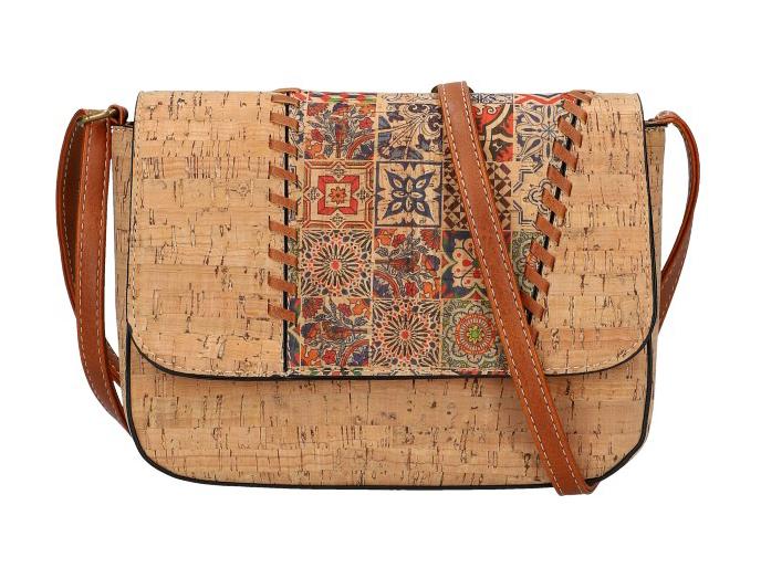 Crossbody dámska kabelka v korkovom dizajne SE306-3