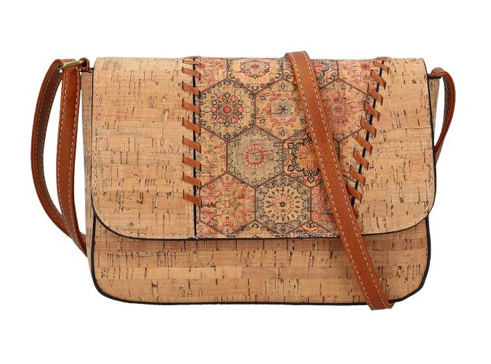 Crossbody dámska kabelka v korkovom dizajne SE306-4