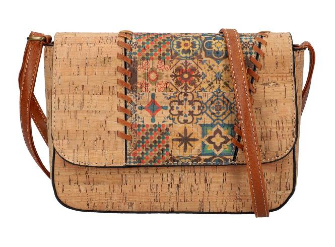 Crossbody dámska kabelka v korkovom dizajne SE306-5