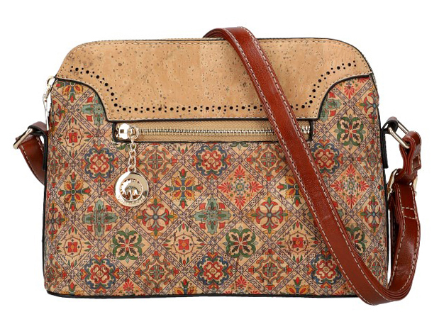 Crossbody dámska kabelka v korkovom dizajne SM016-5