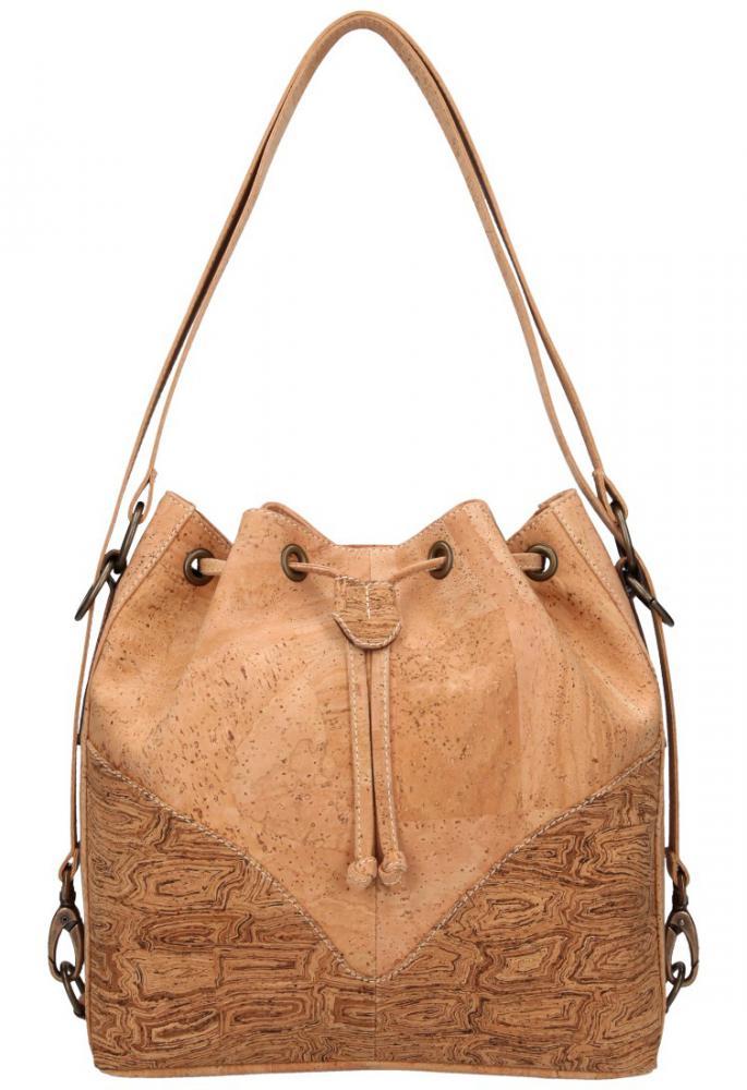Korková přírodní dámská kabelka přes rameno