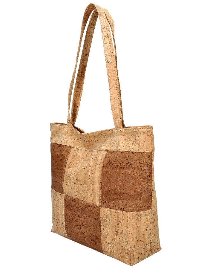Korková přírodní dámská kabelka přes rameno MR011