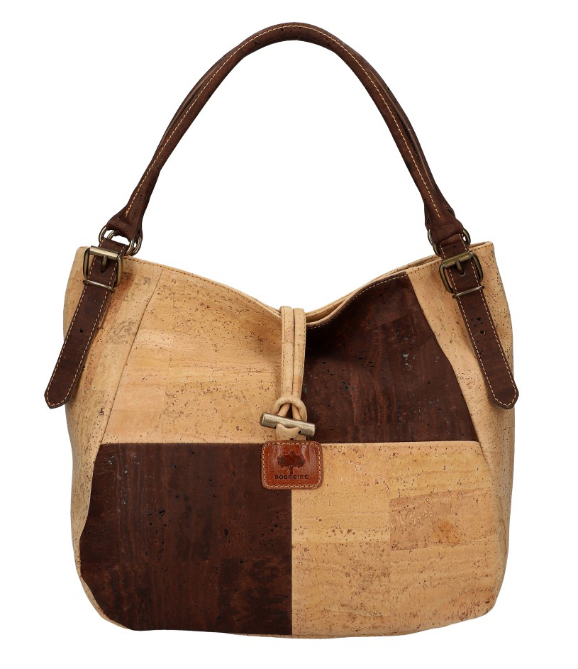 SOBREIRO Korková hnědá přírodní dámská kabelka přes rameno
